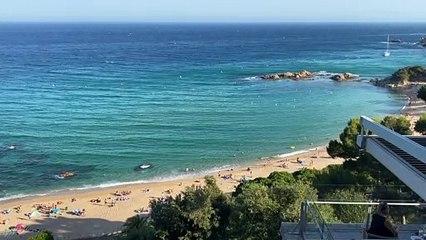 Vista desde una habitación del Hotel Santa Marta (Lloret)