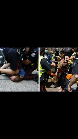 Protest Over Toronto's Encampment Clearing Turned Violent Today With Many Arrests (VIDEO)