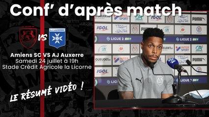 Conférence d'après match ASC - AJA : Mickaël Alphonse