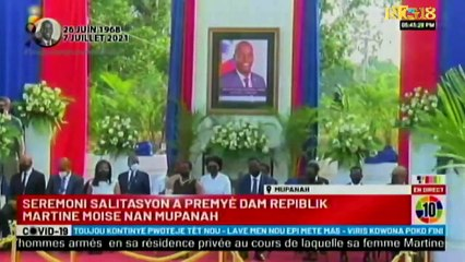 Mupanah salutations à la Première Dame Martine Moise.