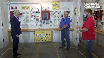 President Biden Tours a Cincinnati Union Training Center