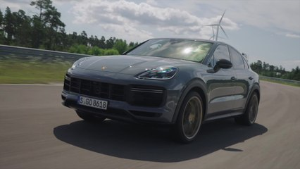 The new Porsche Cayenne Turbo GT in Grey Driving Video