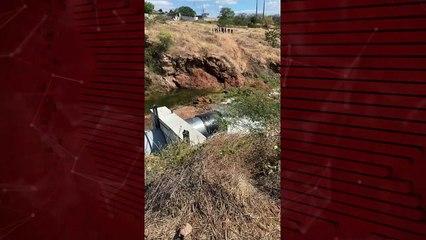 Após desperdício de água, Denocs finalmente resolve problema na válvula do açude de São Gonçalo