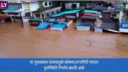 Badlapur Ulhas River: बदलापुर शहरात पूरस्थिती; अनेक दुकाने आणि घरांमध्ये शिरले पाणी