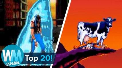 ¡Top 20 MUERTES más Divertidas en los Videojuegos!