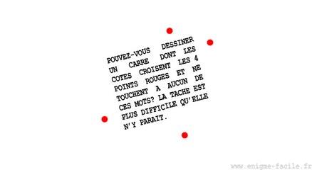 Essayez de venir à bout de l'énigme des points rouges