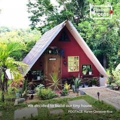 Family Builds a Tiny House With An Indoor Pool and Tree House For P350,000