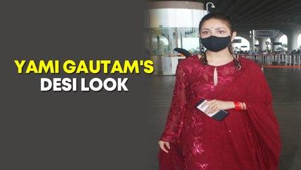 Newlywed Yami Gautam spotted at Mumbai airport