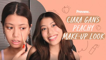 YouTuber Ciara Gan's Go-To Peachy Makeup Look   Beauty Basics   PREVIEW