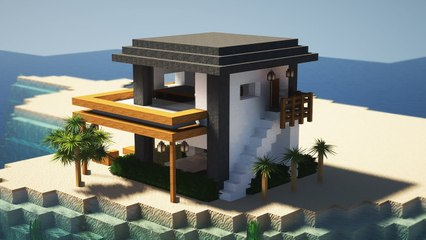 ✔️Minecraft _ How To Make Beach House