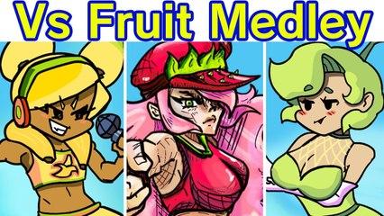 Friday Night Funkin' VS Fruit Medley Mayhem FULL WEEK + Cutscenes (FNF Mod_Hard) (Anime Trio)