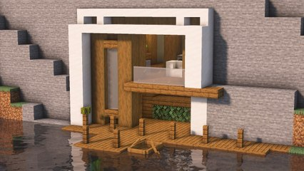 Minecraft _ How to Build Modern Mountain House Tutorial