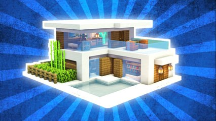 Minecraft _ How to Build a Small & Easy Modern House Tutorial #1