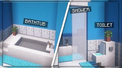 Minecraft _ How to Build a Modern Bathroom [Minecraft Interior #1]