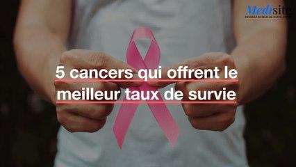 5 cancers qui offrent le meilleur taux de survie