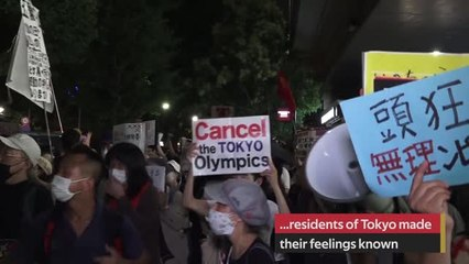 Protesters take to the streets of Tokyo as Olympics open