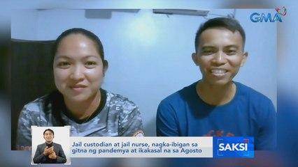 Jail custodian at jail nurse, nagka-ibigan sa gitna ng pandemya at ikakasal na sa Agosto   Saksi
