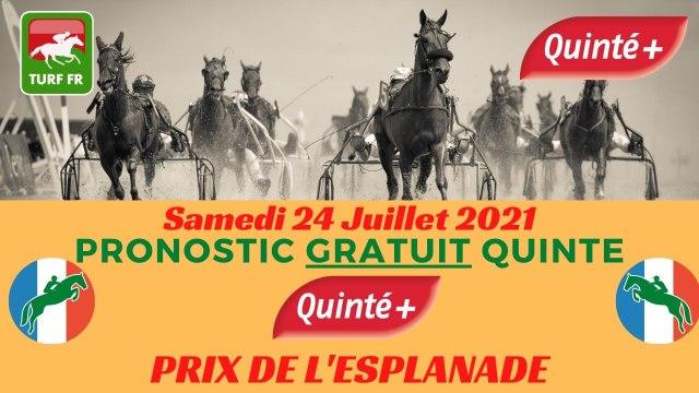 Minute Quinté TURF FR : PRIX DE L'ESPLANADE - Samedi 24 Juillet 2021 - Enghien Soisy  PMU #247267