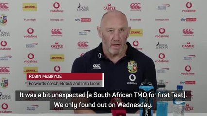 South African TMO for Lions opener a 'lack of foresight' - McBryde