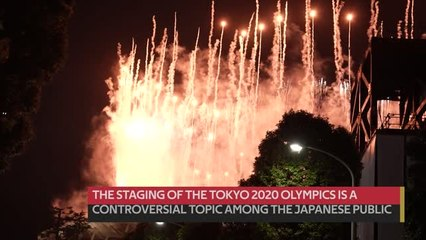 Japanese gather for Olympic opening ceremony