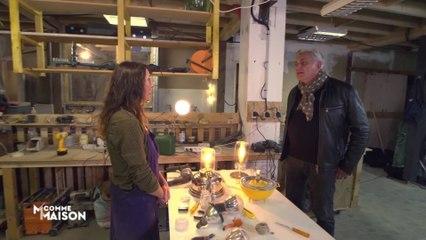 Découvrez une artiste qui transforme des objets recyclés en lampes