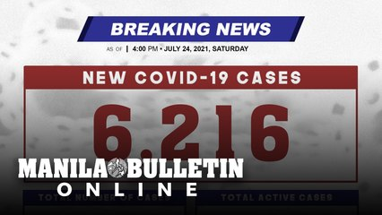 DOH reports 6,216 new cases, bringing the national total to 1,543,281, as of JULY 24, 2021