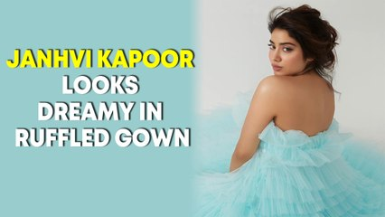 Janhvi Kapoor looks dreamy in ruffled gown, sister Khushi Kapoor reacts