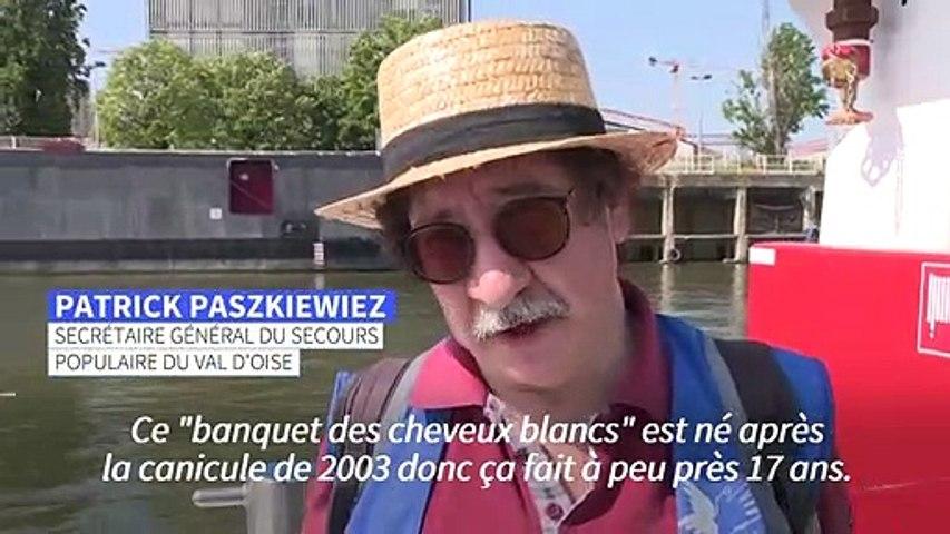 """Paris: le """"banquet des cheveux blancs"""" de retour sur la Seine"""