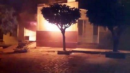 Durante briga com namorada, homem toca fogo na casa dos pais, no Centro de Cajazeiras