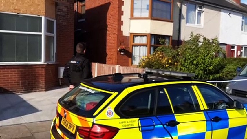 Blackpool murder scene