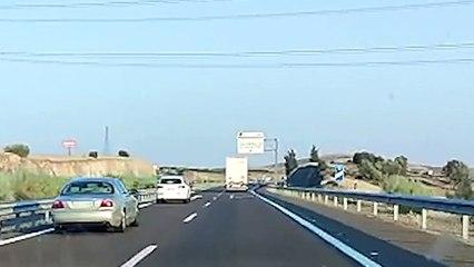 Un camionero conduce de forma temeraria en Badajoz