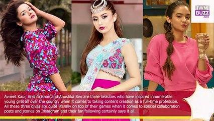 Avneet Kaur Vs Arishfa Khan Vs Anushka Sen Who is the ultimate swag queen Vote Now