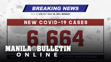 DOH reports 6,664 new cases, bringing the national total to 1,555,396, as of JULY 26, 2021