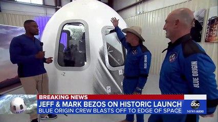 Jeff Bezos, brother talk Blue Origin launch l GMA