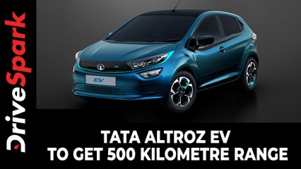 Tata Altroz EV To Get 500 Kilometre Range | Gets Battery Pack That's Bigger Than Tata Nexon EV