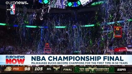 Giannis Antetokounmpo- Greek NBA Finals MVP celebrated by Athens suburb