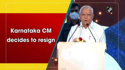 B S Yediyurappa announces resignation as Karnataka Chief Minister