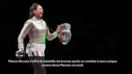 Escrime - Brunet médaillée de bronze