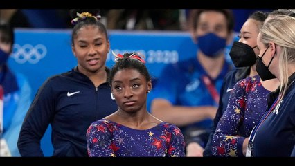 Simone Biles and U S Teammates Stumble and Fall Behind Russia in | Moon TV News