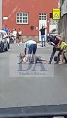 """""""¡Policía!"""" A golpes en plena carretera en el norte de Tenerife"""
