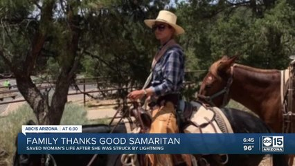 Family thanks good Samaritan who saved woman after she was struck by lightning