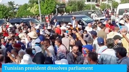 Tunisia's President Saied sacks PM Mechichi, suspends parliament