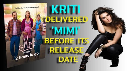 Here's the truth why Kriti Sanon delivered 'Mimi' 4 days before its release date