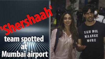 The team of 'Shershaah' returned to Mumbai after releasing the trailer in Kargil