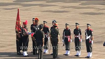 Respect for the flag_ Part of the Indian Military Academy parade