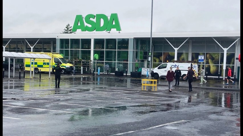 Thunder, lightning and torrential rain flood entire NI town centre, Asda supermarket, local businesses and parts of Belfast