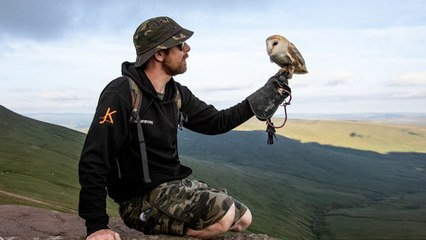 Man With PTSD, Emotional Support Owl Help Others Heal