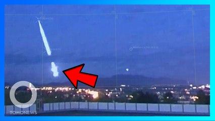 巨大流星墜落在挪威 發出巨響照亮黑夜