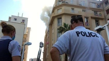 Feu d'appartement dans le centre-ville de Toulon le jeudi 28.07