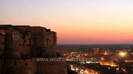 Dusk to dawn at Jaisalmer Fort - Time Lapse